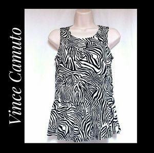 Vince Camuto Zebra Print Peplum Top Size Small